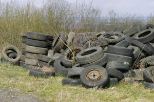 Used Tires Are Too Often Recycled as Rubber Mulch